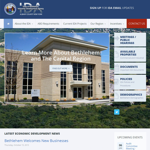 Town of Bethlehem Industrial Development Agency